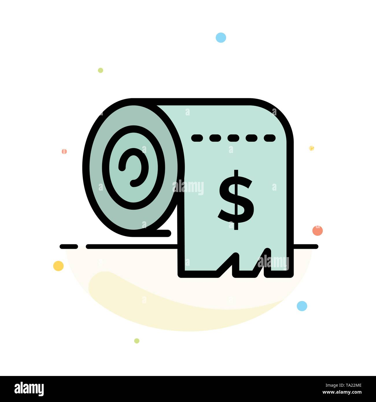 Budget, Consumption, Costs, Expenses, Finance Abstract Flat Color Icon Template - Stock Image