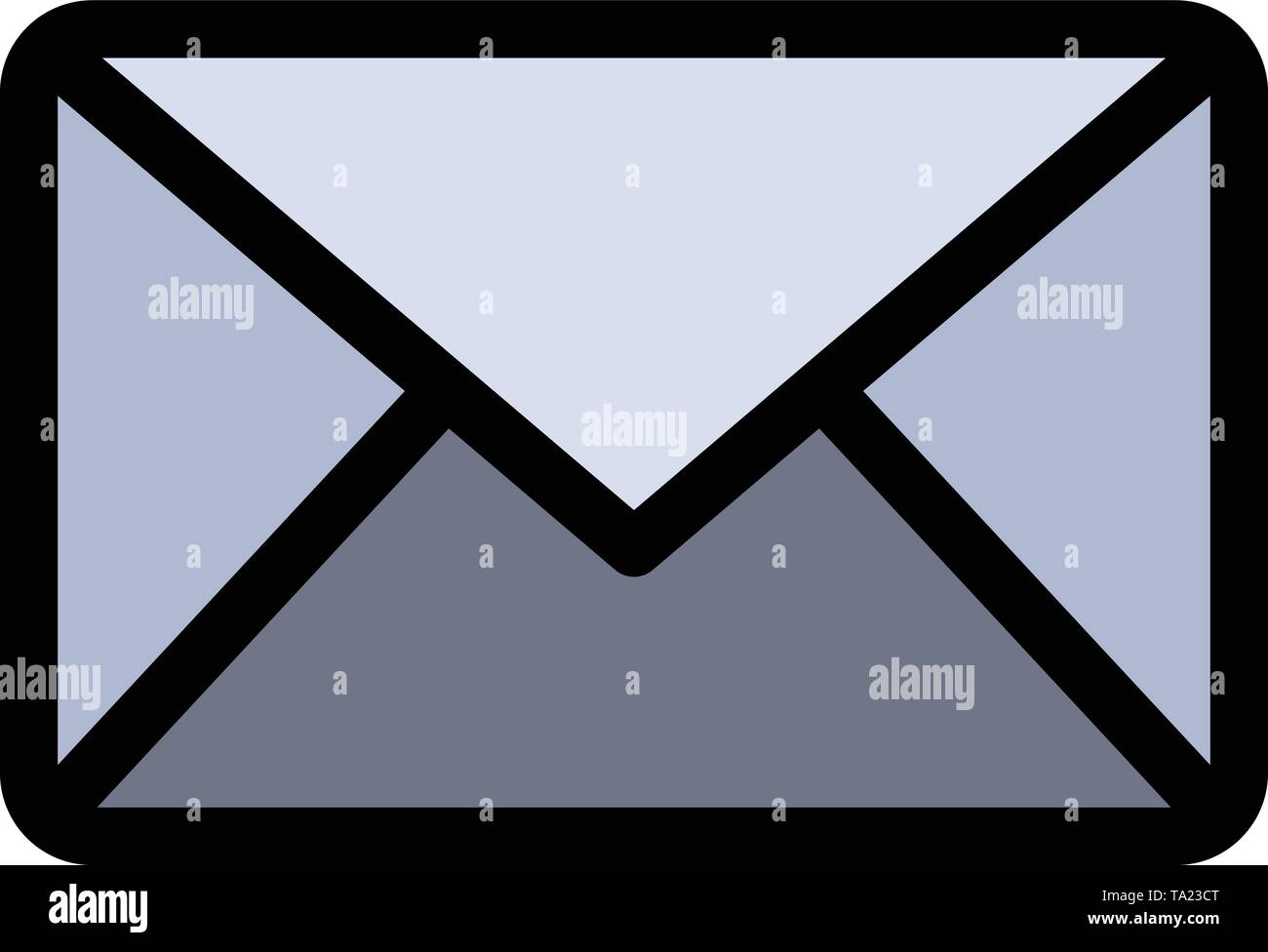 Email, Mail, Message, Sms  Flat Color Icon. Vector icon banner Template - Stock Image