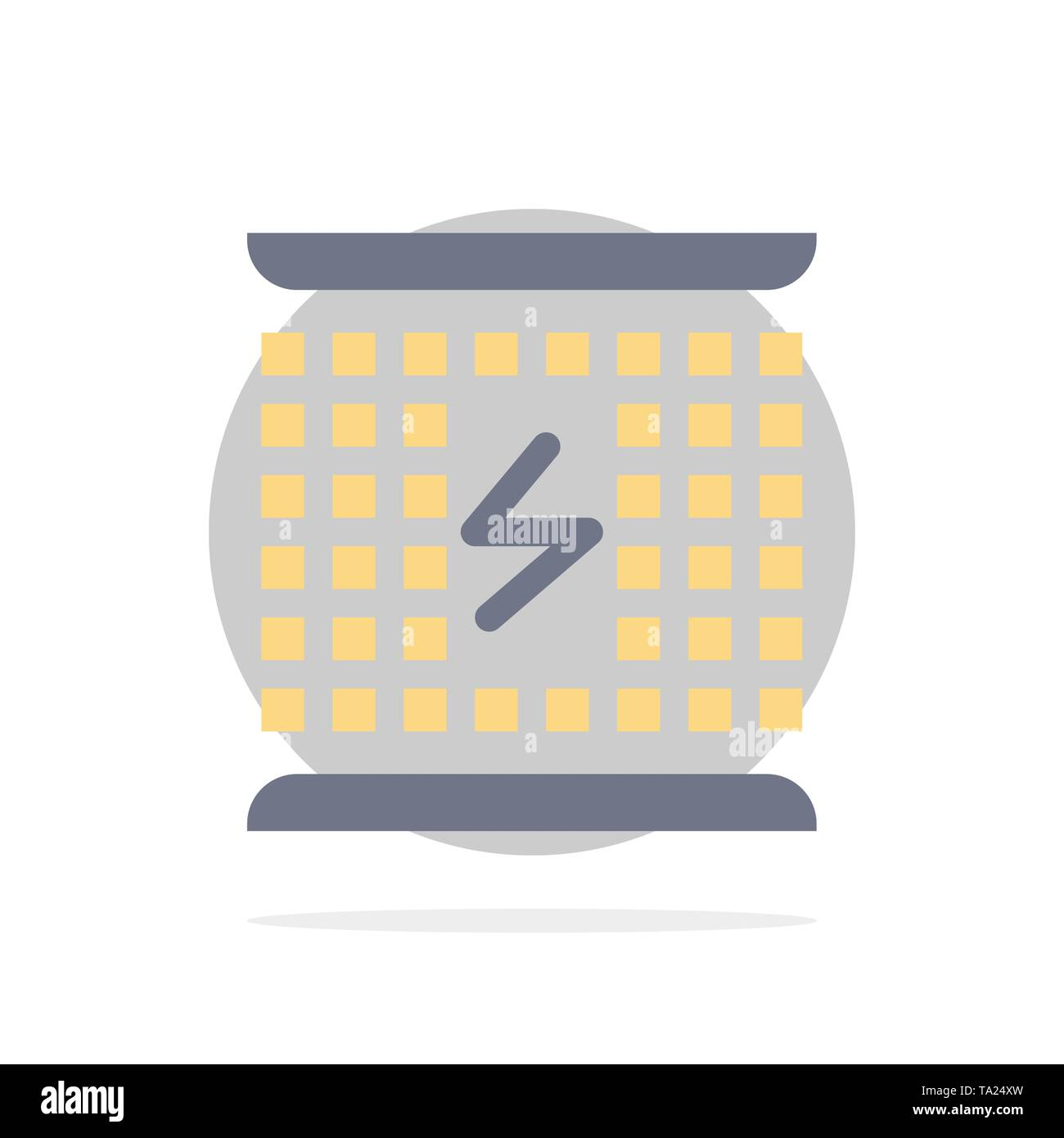 Charge, Charging, Electricity, Electromagnetic, Energy Abstract Circle Background Flat color Icon - Stock Image