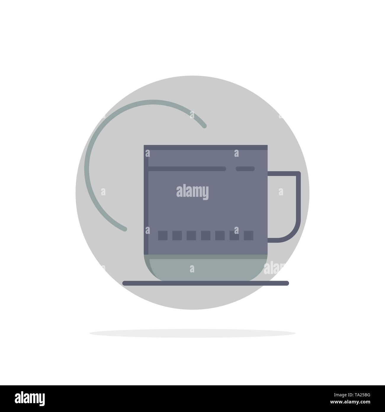 Tea, Hot, Hotel, Service Abstract Circle Background Flat color Icon Stock Vector
