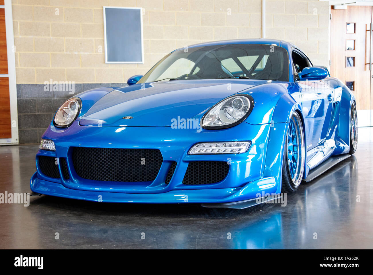 Modified Porsche Cayman Stock Photo Alamy