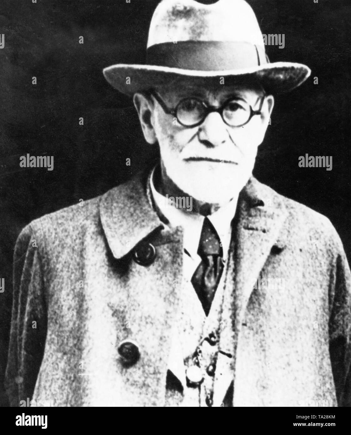 Portrait of Austrian psychoanalyst, Sigmund Freud - Stock Image