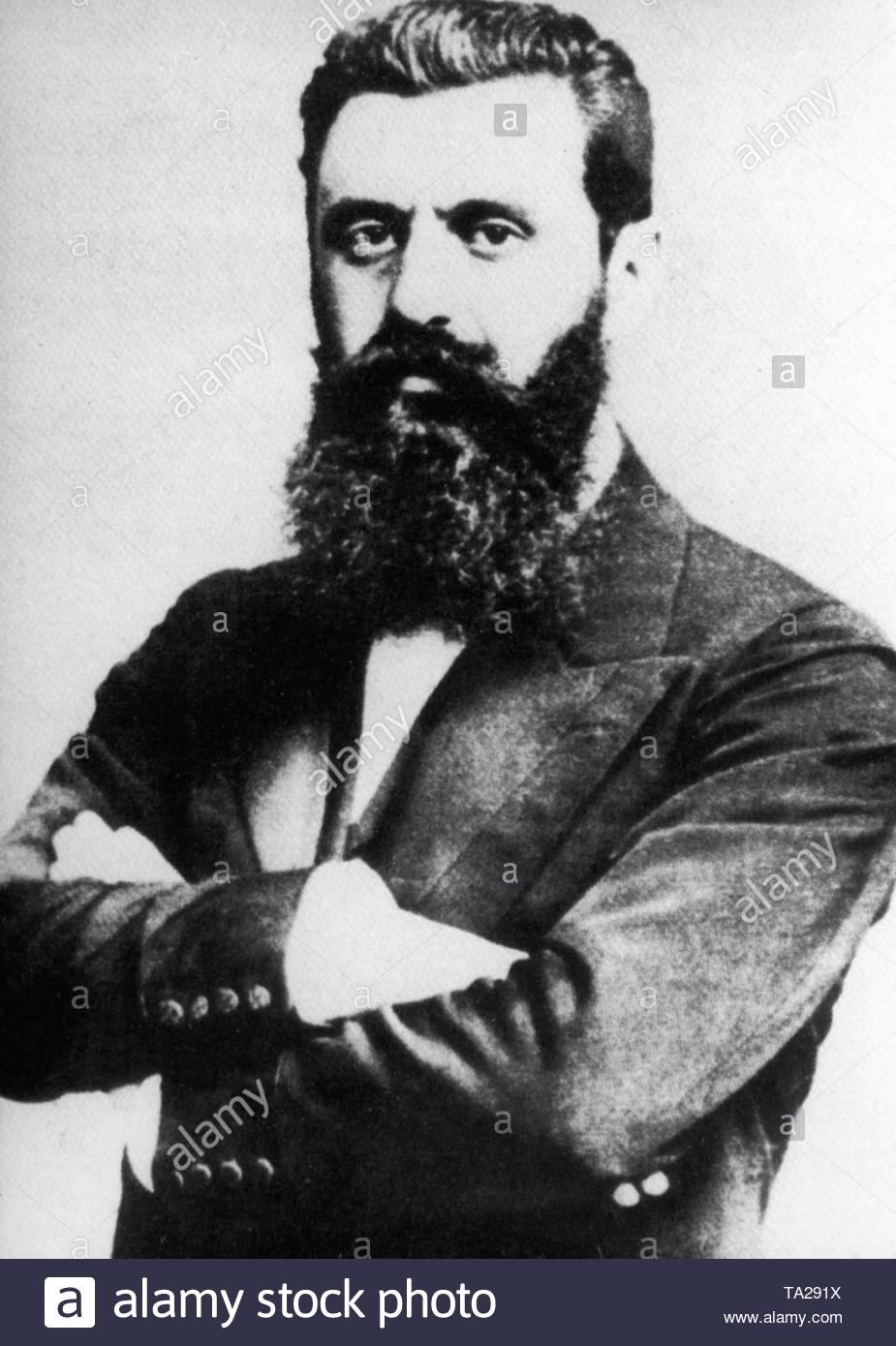 Theodor Herzl, Austrian writer, publicist, journalist and Zionist politician. - Stock Image