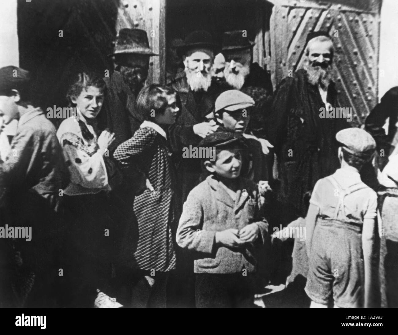 Scene from the Nazi propaganda film 'The Eternal Jew', directed by Fritz Hippler, Germany 1940. - Stock Image