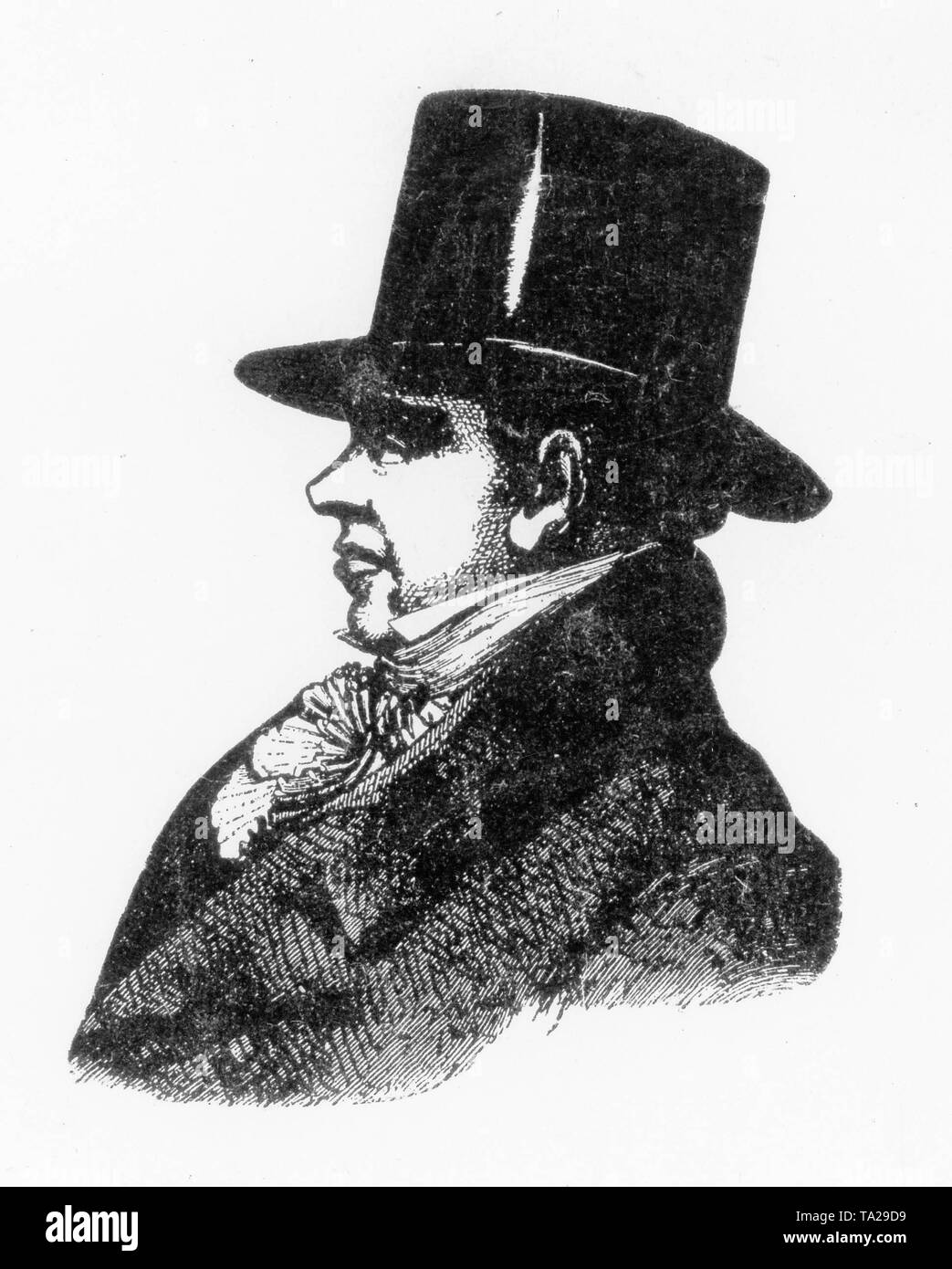 Profile portrait of Nathan Mayer Rothschild (1777-1836), founder of the London banking house of Rothschild and son of the founder of the Rothschild dynasty Mayer Amschel Rothschild - Stock Image