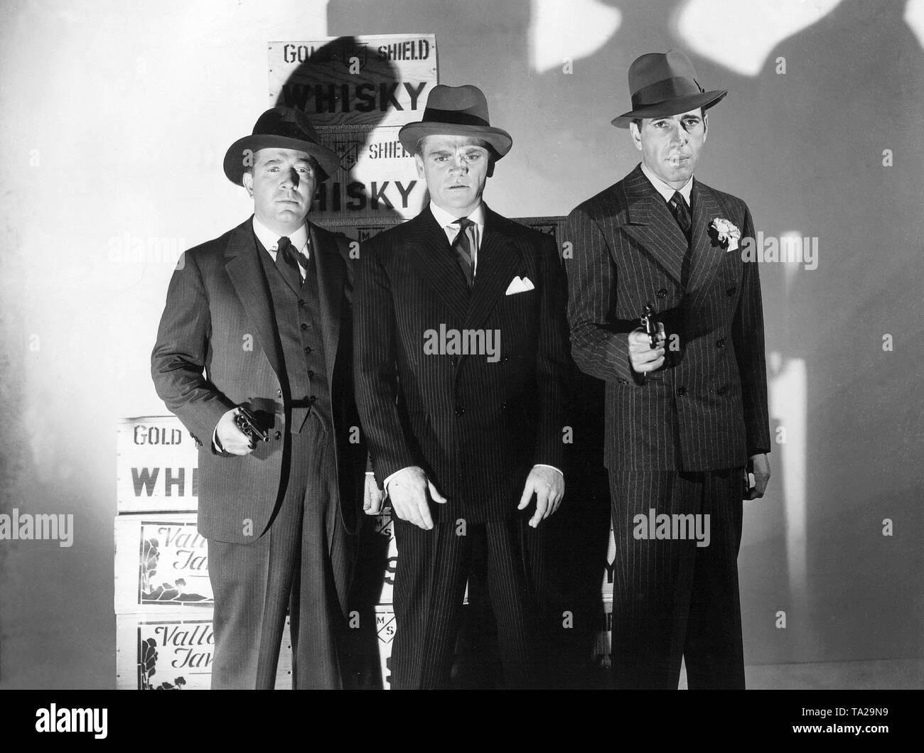 Jeffrey Lynn, James Cagney and Humphrey Bogart in 'The Roaring Twenties', directed by Raoul Walsh, USA 1939. - Stock Image