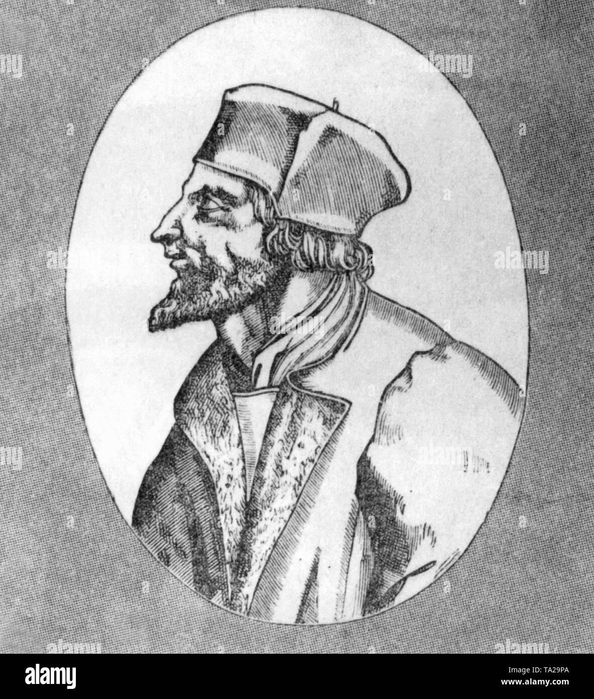 The Czech reformer Jan Hus. - Stock Image