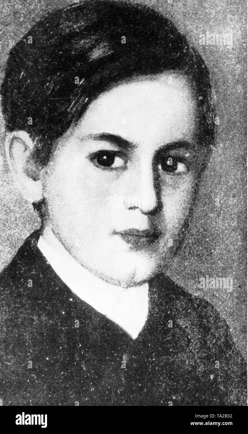The young Sigmund Freud - Stock Image