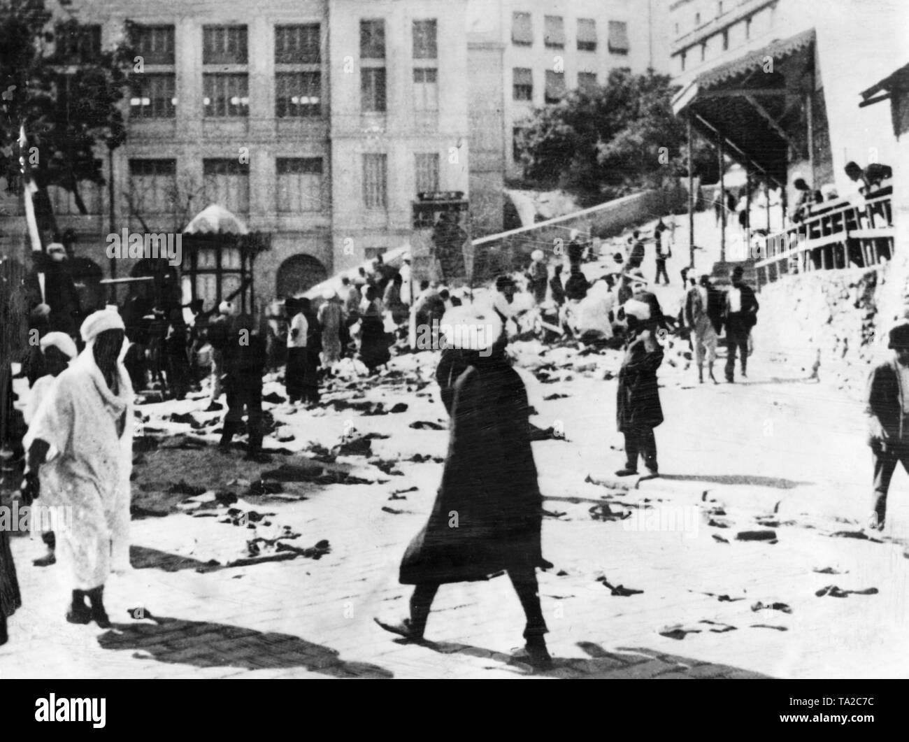 Vertreibung aus arabischen Ländern, Juden,    Expulsion from arabic countries, jews - Stock Image