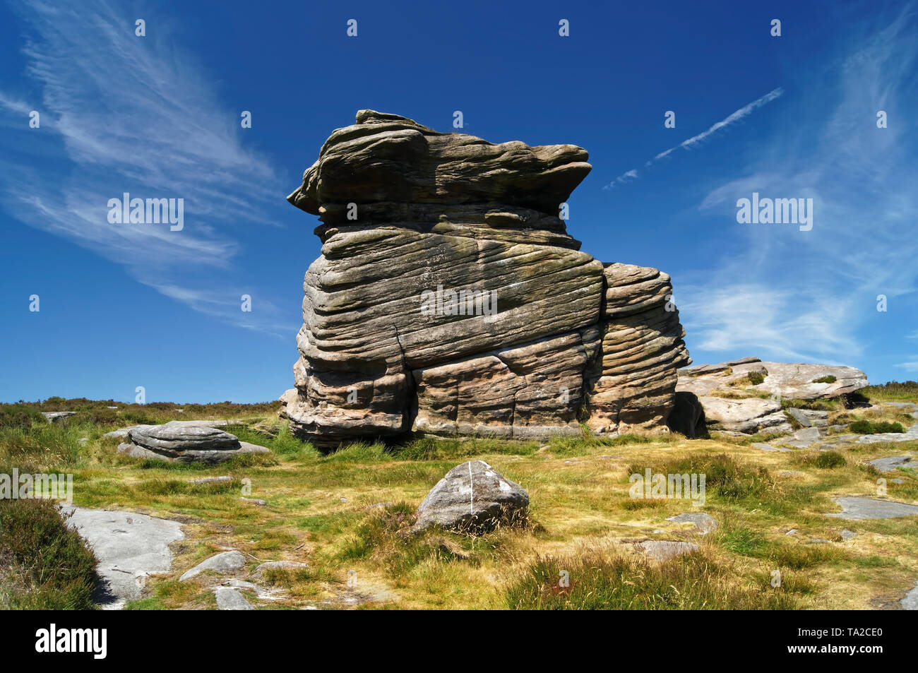UK,South Yorkshire,Peak District,Near Hathersage,Mother Cap - Stock Image