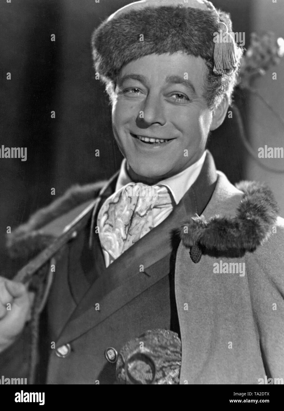 """heinz ruehmann as journeyman tailor wenzel in """"clothes make"""