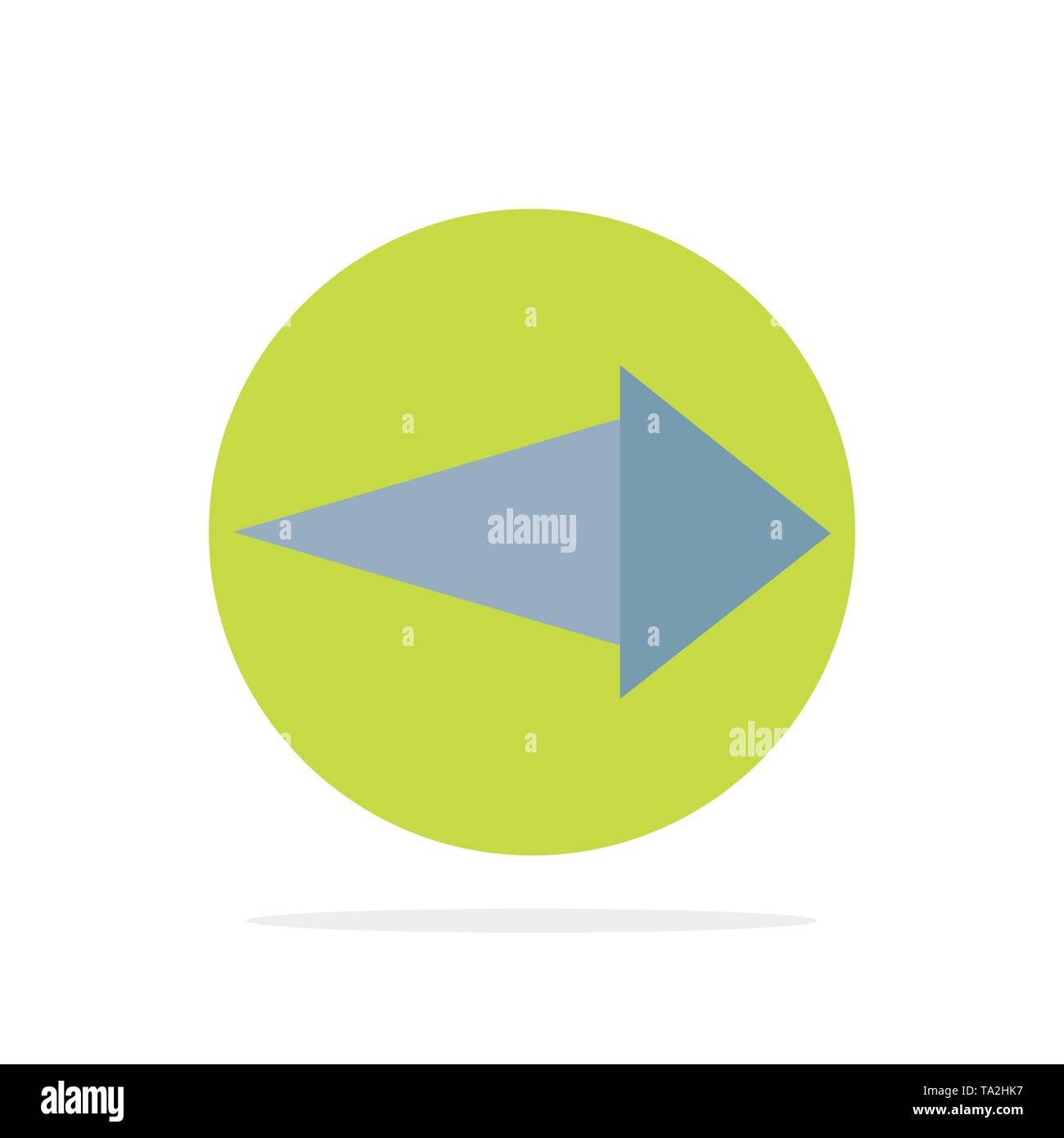 Arrow, Right, Next Abstract Circle Background Flat color Icon - Stock Image