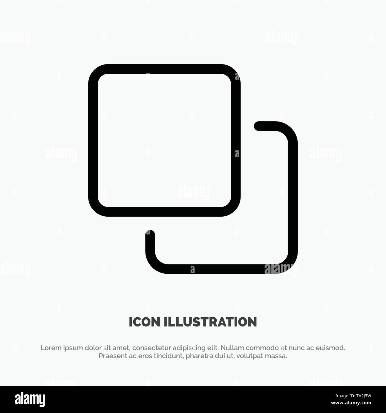 Four, Media, Quadruple, Stack Line Icon Vector - Stock Image