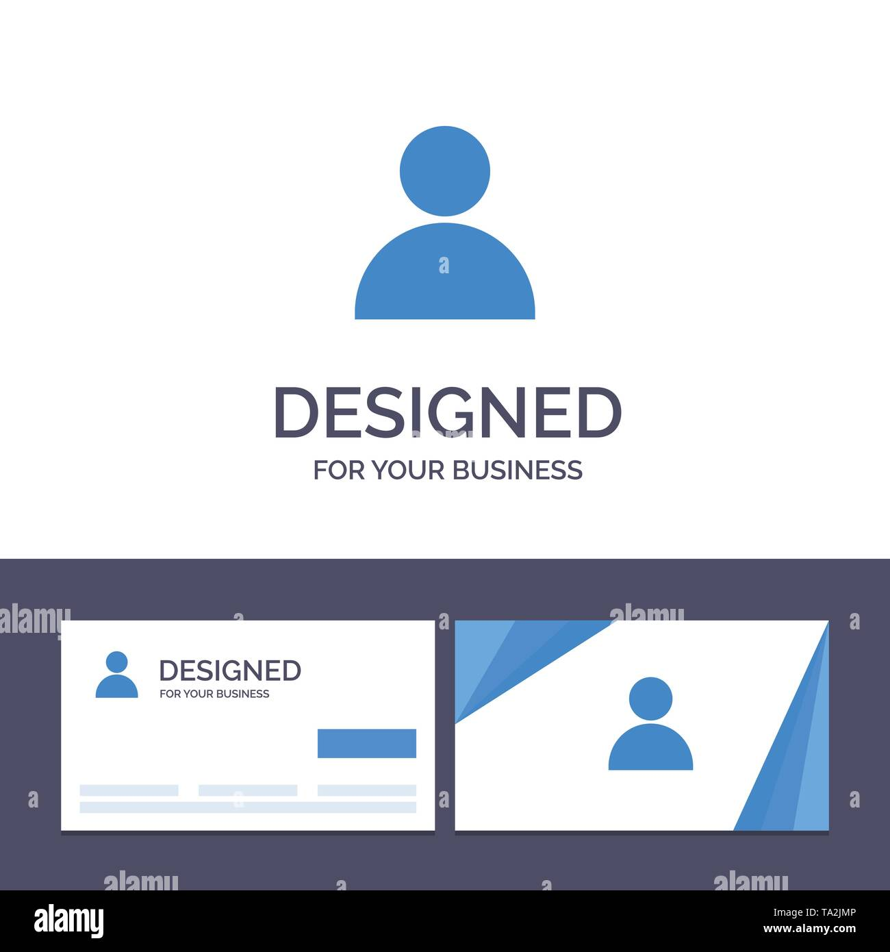 Creative Business Card and Logo template Contacts, Mane, Twitter Vector Illustration - Stock Image