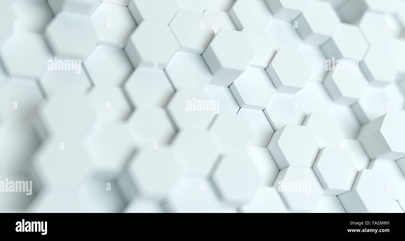 Abstract Technological Hexagonal Background 3d Rendering