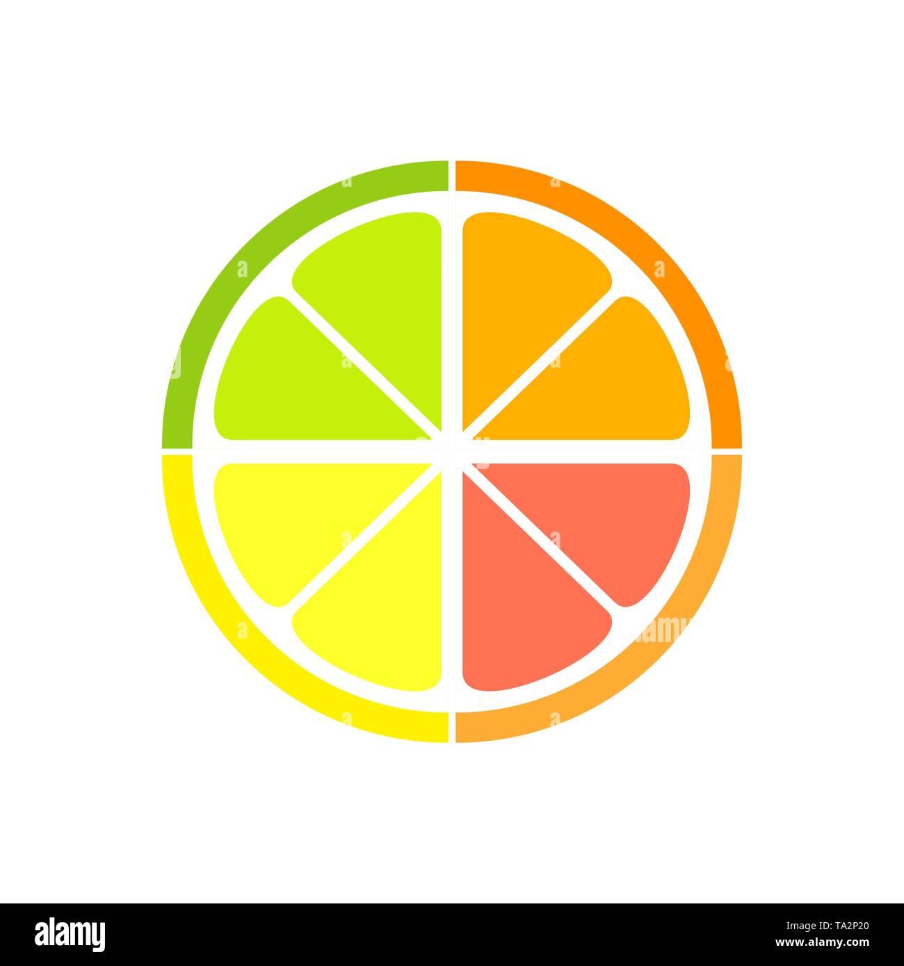 Citrus slice collage icon. Vector illustration - Stock Image
