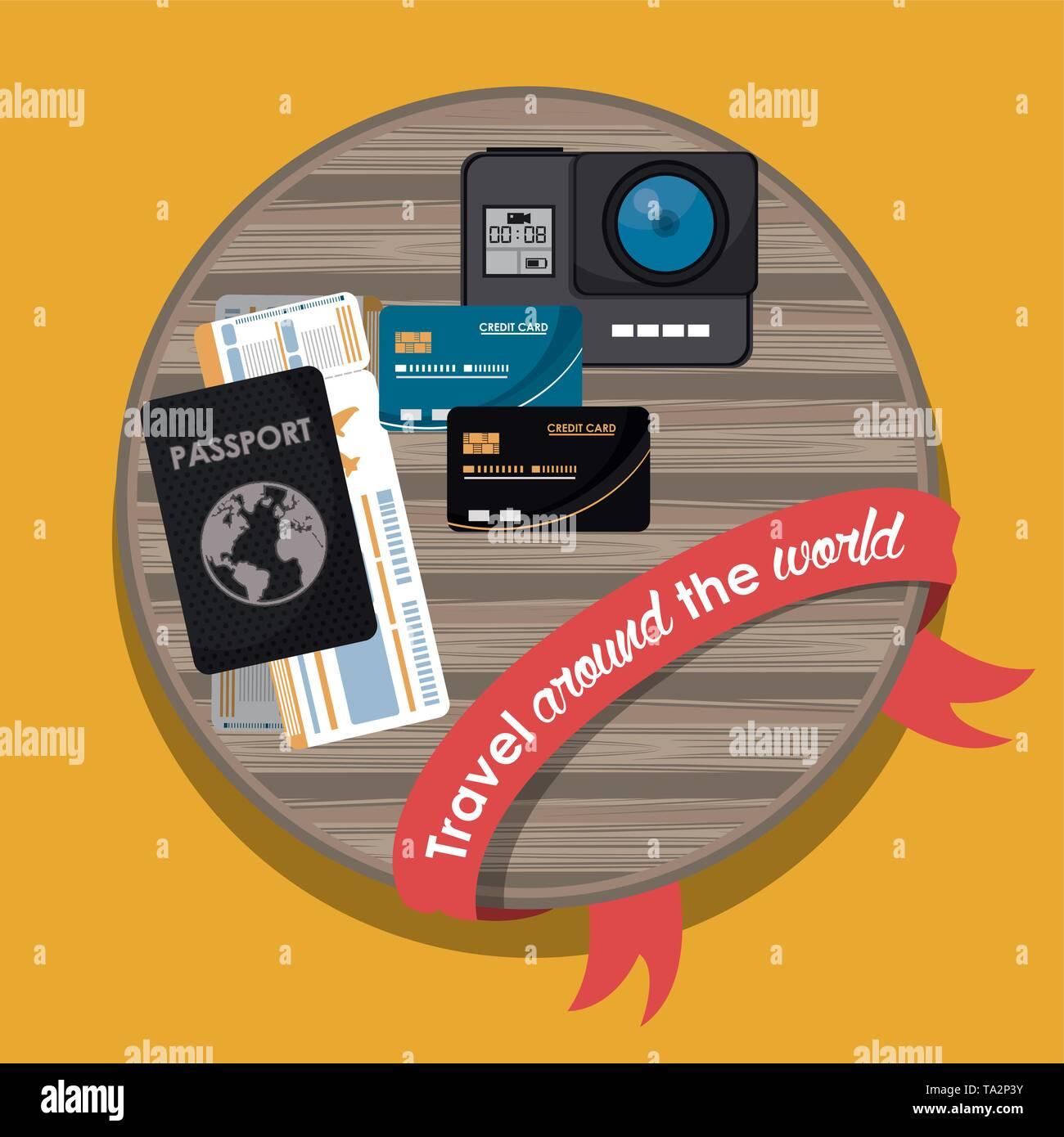 Travel around the world - Stock Image