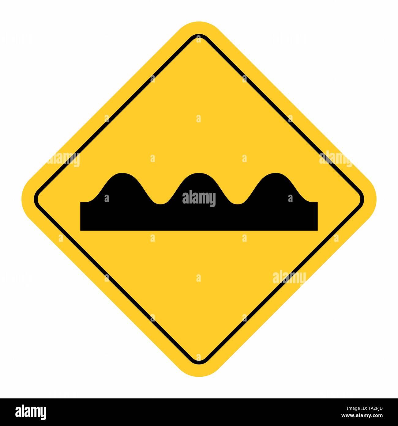 Bumpy Road Sign - Stock Image