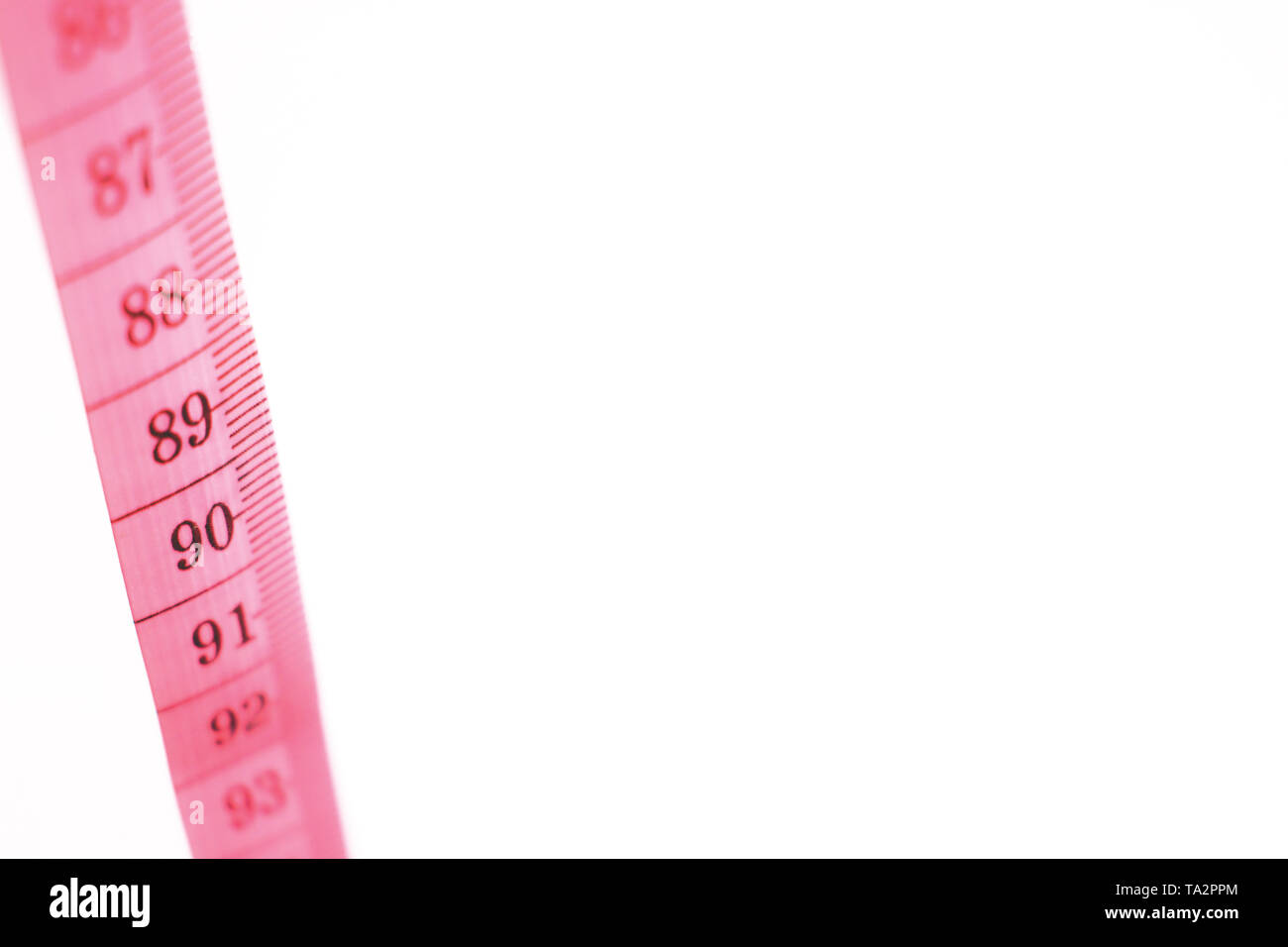 Pink Tape Measure - Stock Image