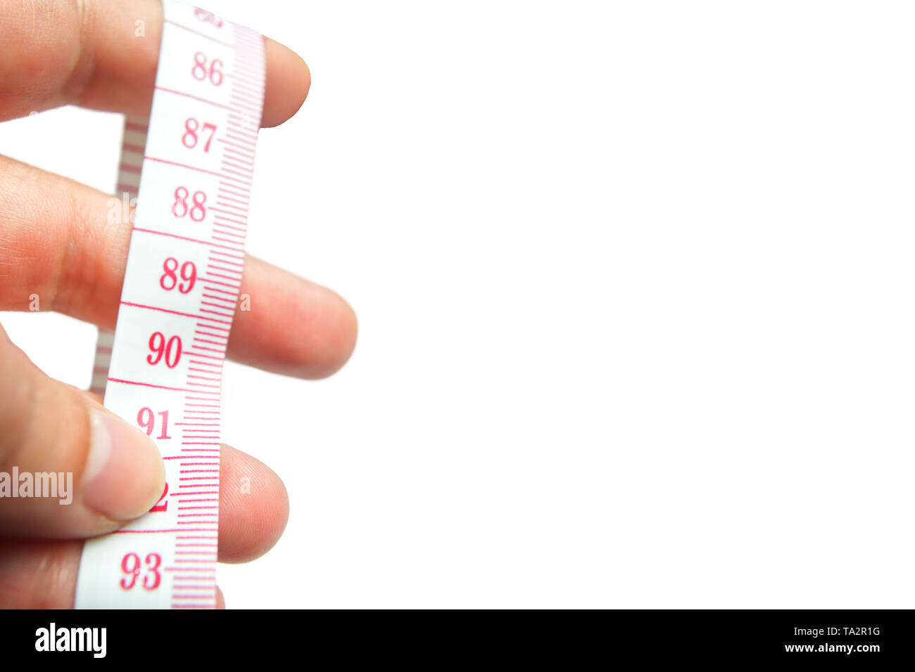 Measuring my body - Stock Image