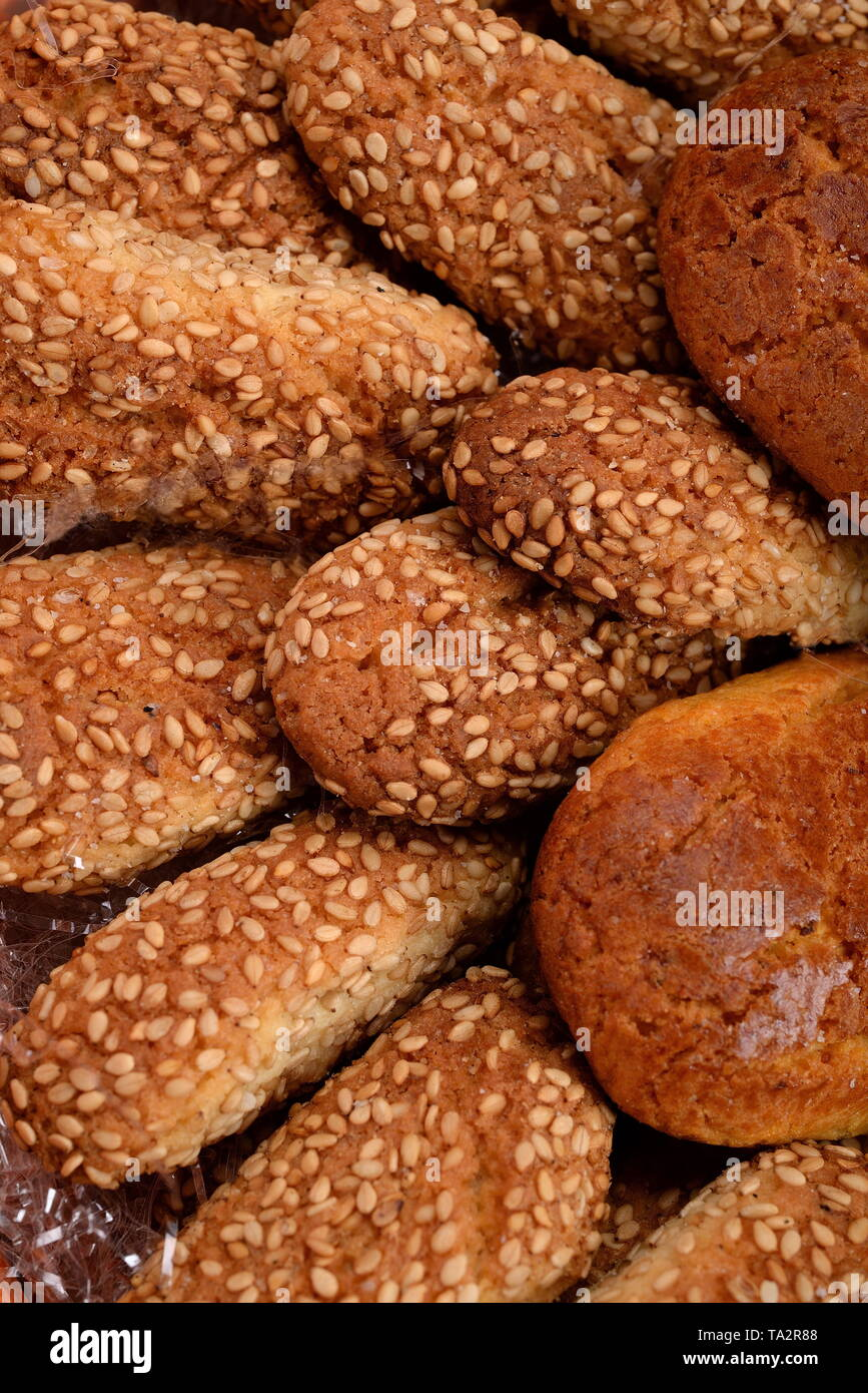 Assortment of cookies in the table - Stock Image