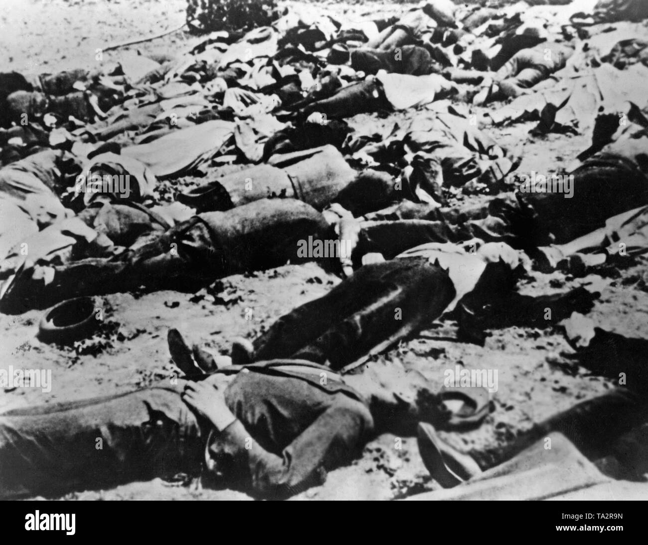 In the course of the successful Operation Anthropoid, it comes to retaliation against the Czech population. The Czech village Lidice is completely destroyed by the Wehrmacht on June 10, 1942. The men are shot dead, and the women and children are brought to concentration camps. Stock Photo
