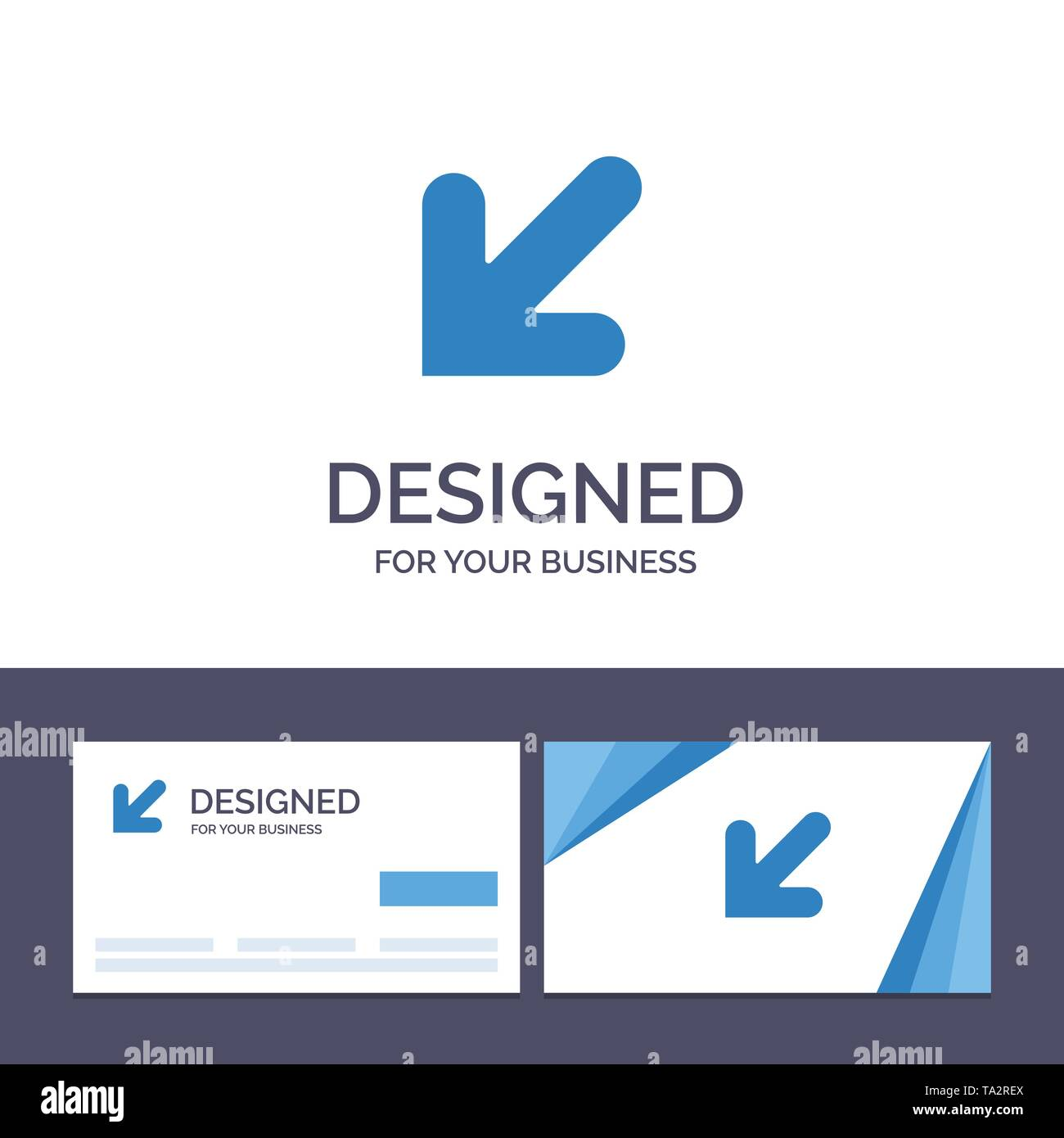 Creative Business Card and Logo template Arrow, , Down, Left Vector Illustration - Stock Image