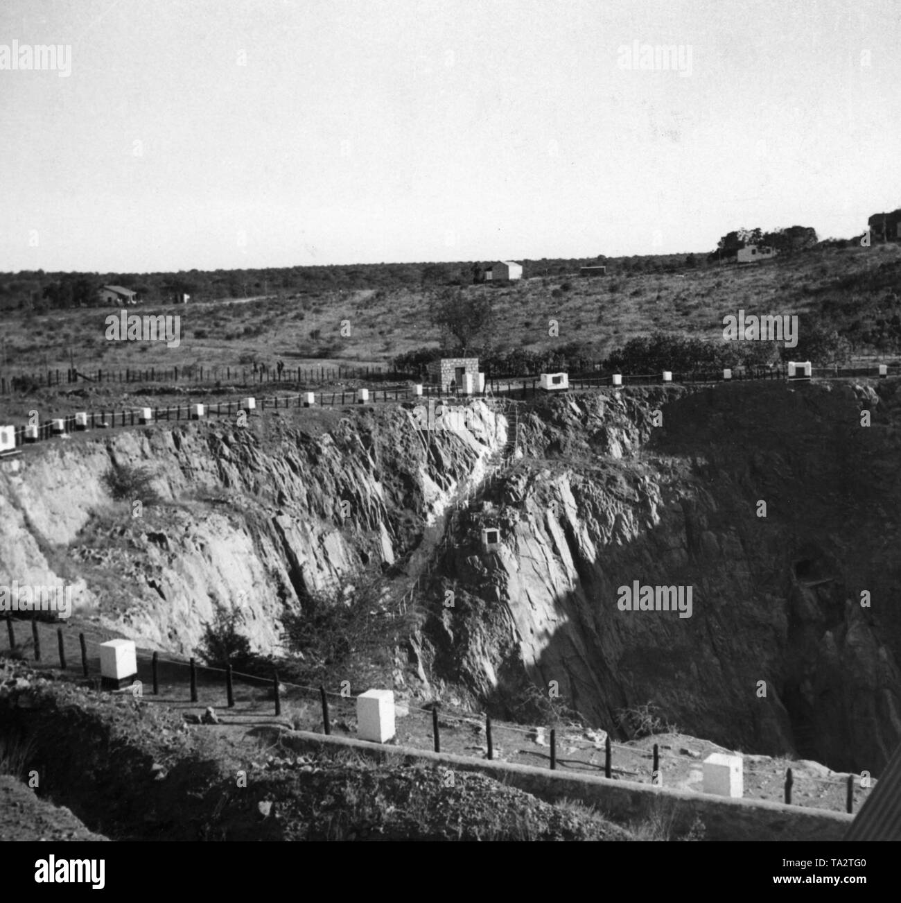 The mine at Abenab on the territory of the former colony of German South West Africa was in operation from 1921 to 1958 and was used to mine vanadium and zinc. - Stock Image