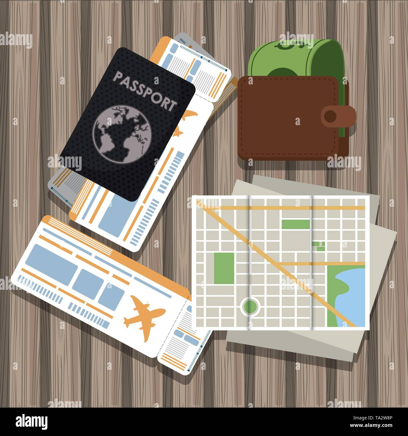 Travel and tourism elements - Stock Image