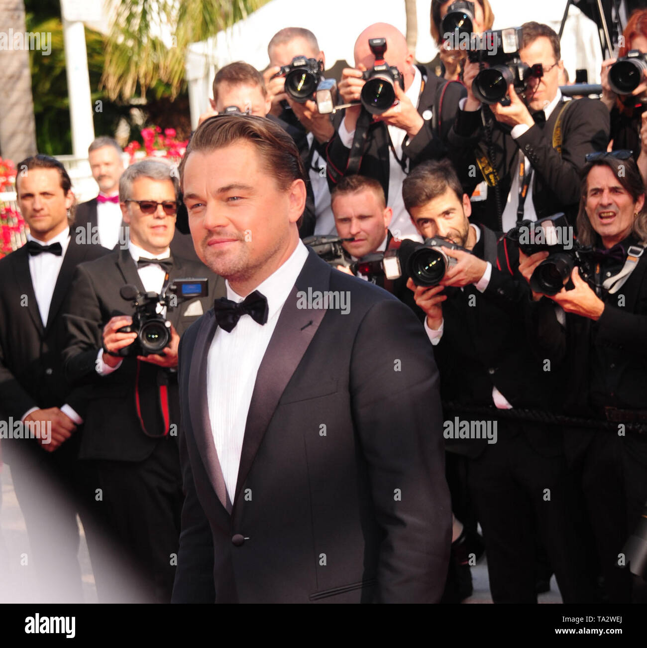 Cannes Film Festival 21stMay at a Red Carpet Leonardo Dicaprio Stock Photo