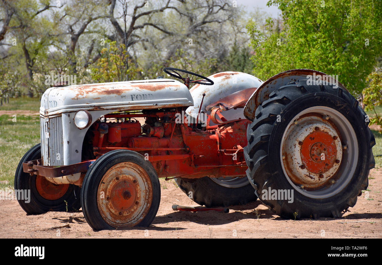 Seen Better Days Ford N-Series Tractor - Stock Image