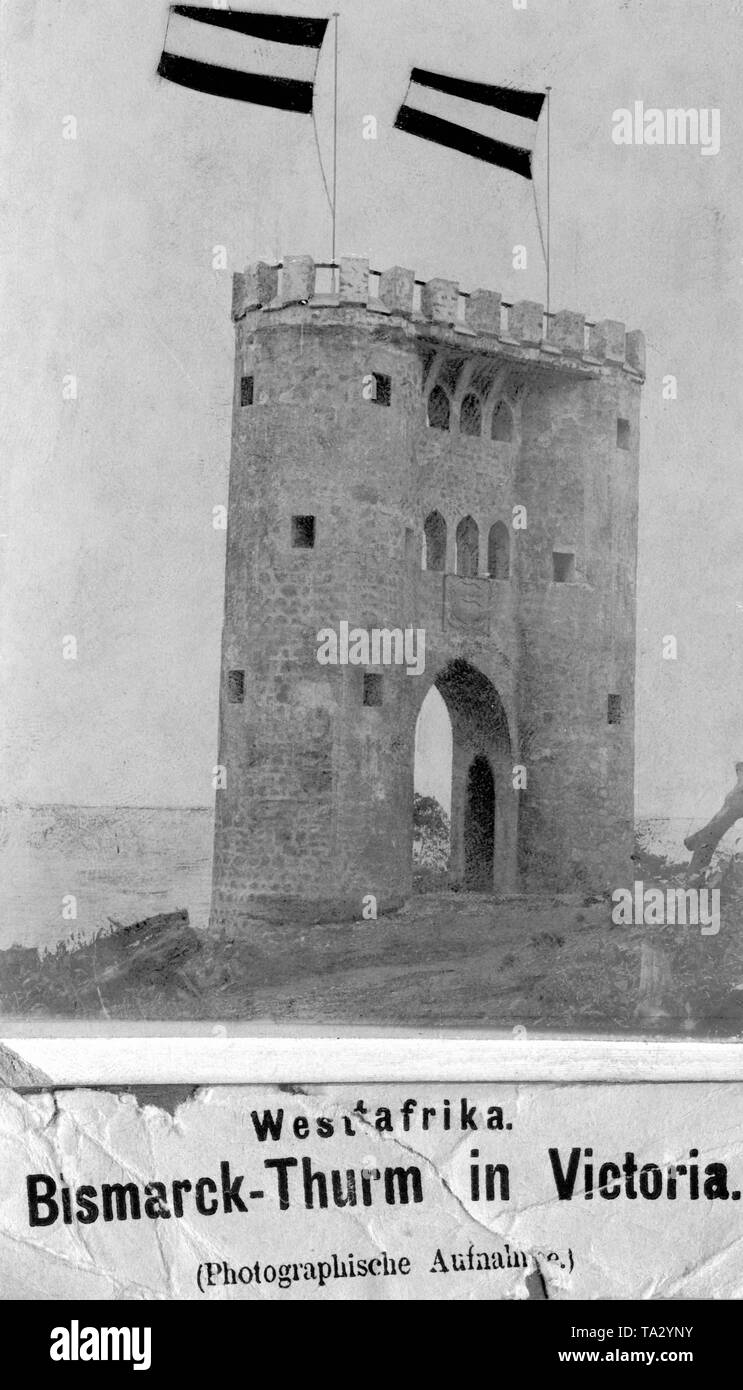 The Bismarck tower in Cape Nachtigal in Cameroon. - Stock Image