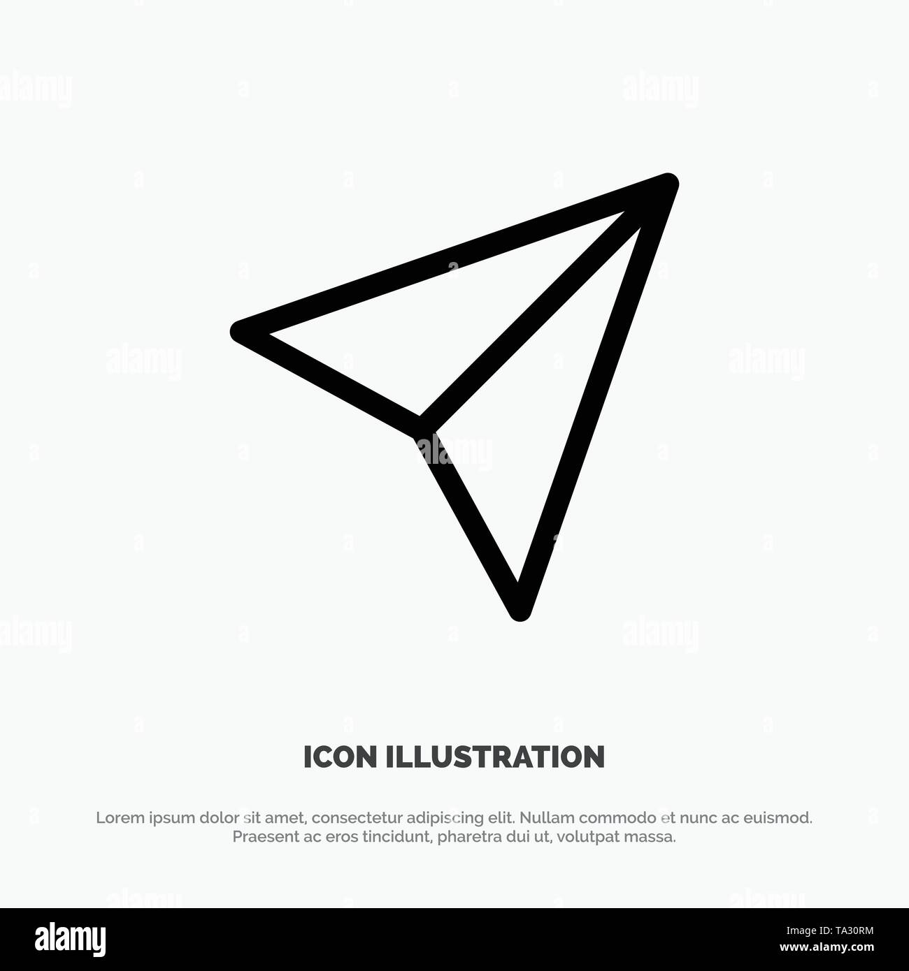 Instagram, Sets, Share Line Icon Vector - Stock Image