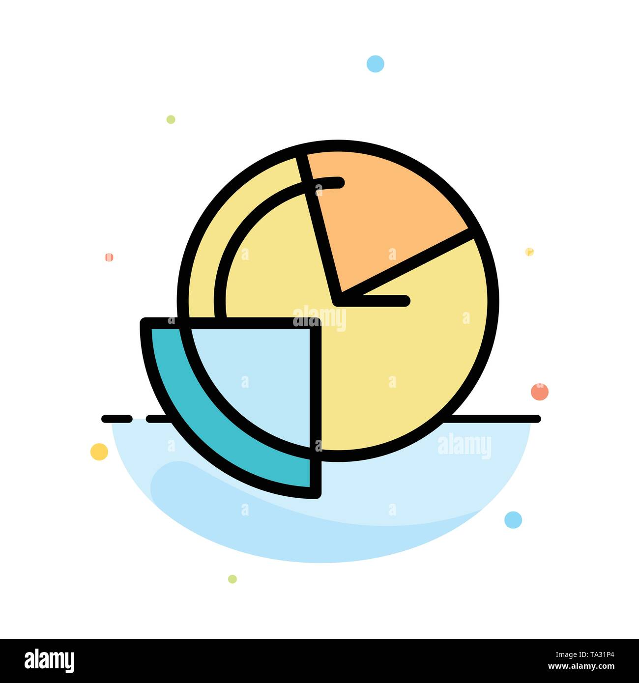 analysis, chart, data, diagram, monitoring abstract flat color icon template