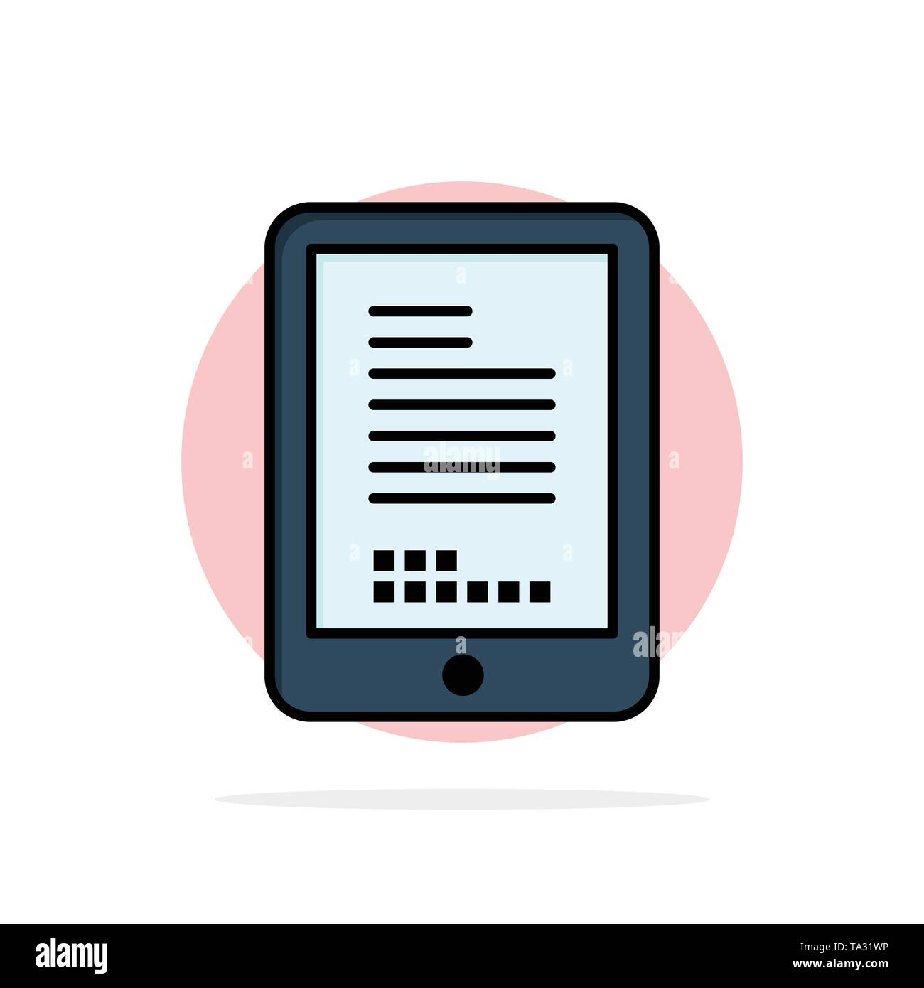 Mobile, Coding, Hardware, Cell Abstract Circle Background Flat color Icon - Stock Image