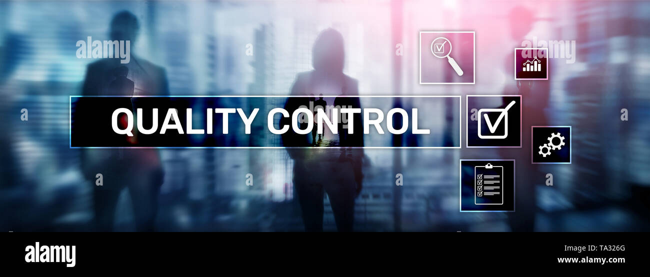 Quality control and assurance. Standardisation. Guarantee. Standards. Business and technology concept - Stock Image