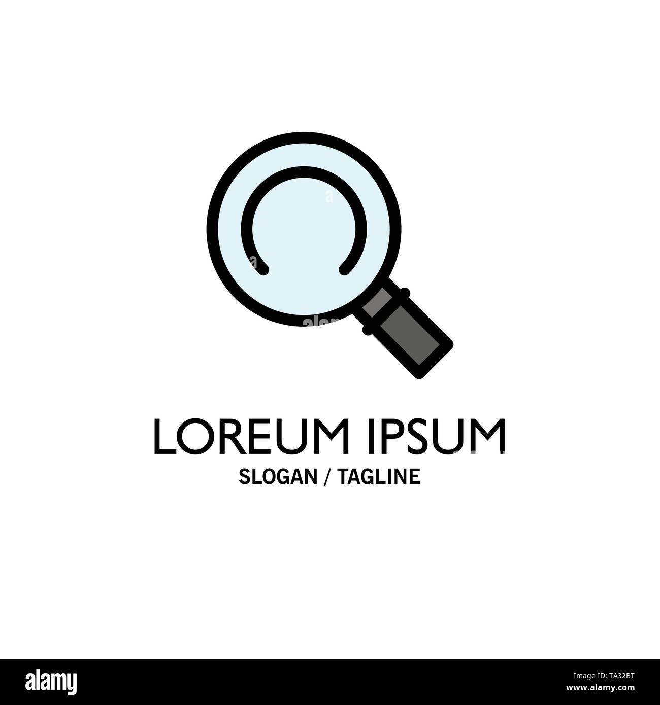 General, Magnifier, Search Business Logo Template. Flat Color - Stock Image