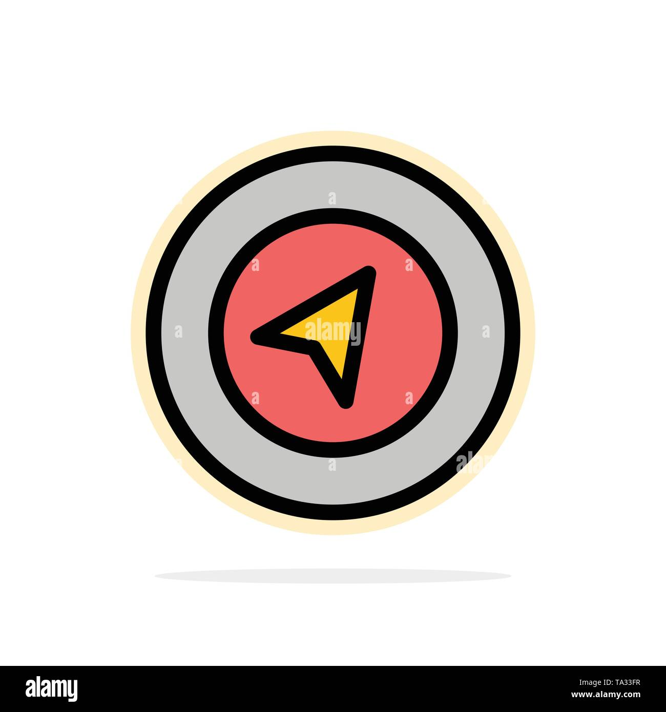 Map, Navigation, Location Abstract Circle Background Flat color Icon - Stock Image