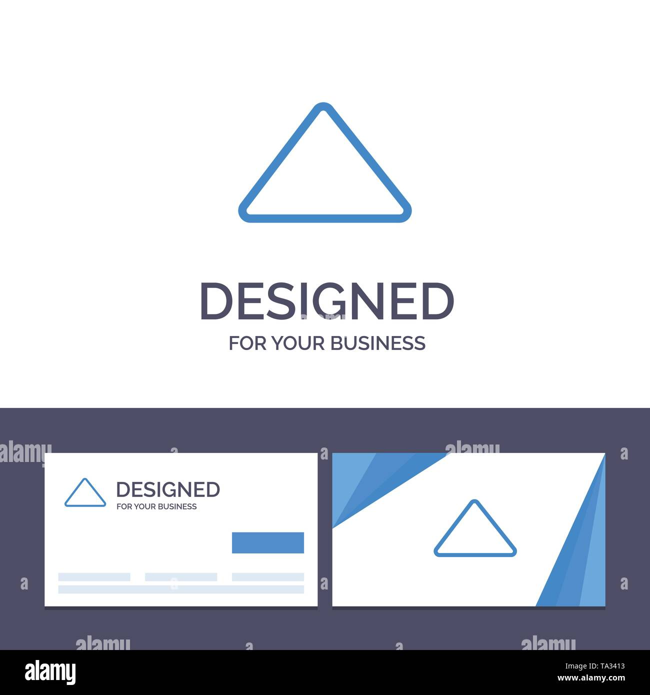 Creative Business Card and Logo template Arrow, Up, Play, Video Vector Illustration - Stock Image