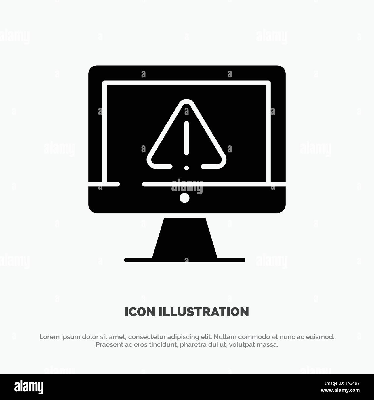 Computer, Data, Information, Internet, Security solid Glyph Icon vector - Stock Image