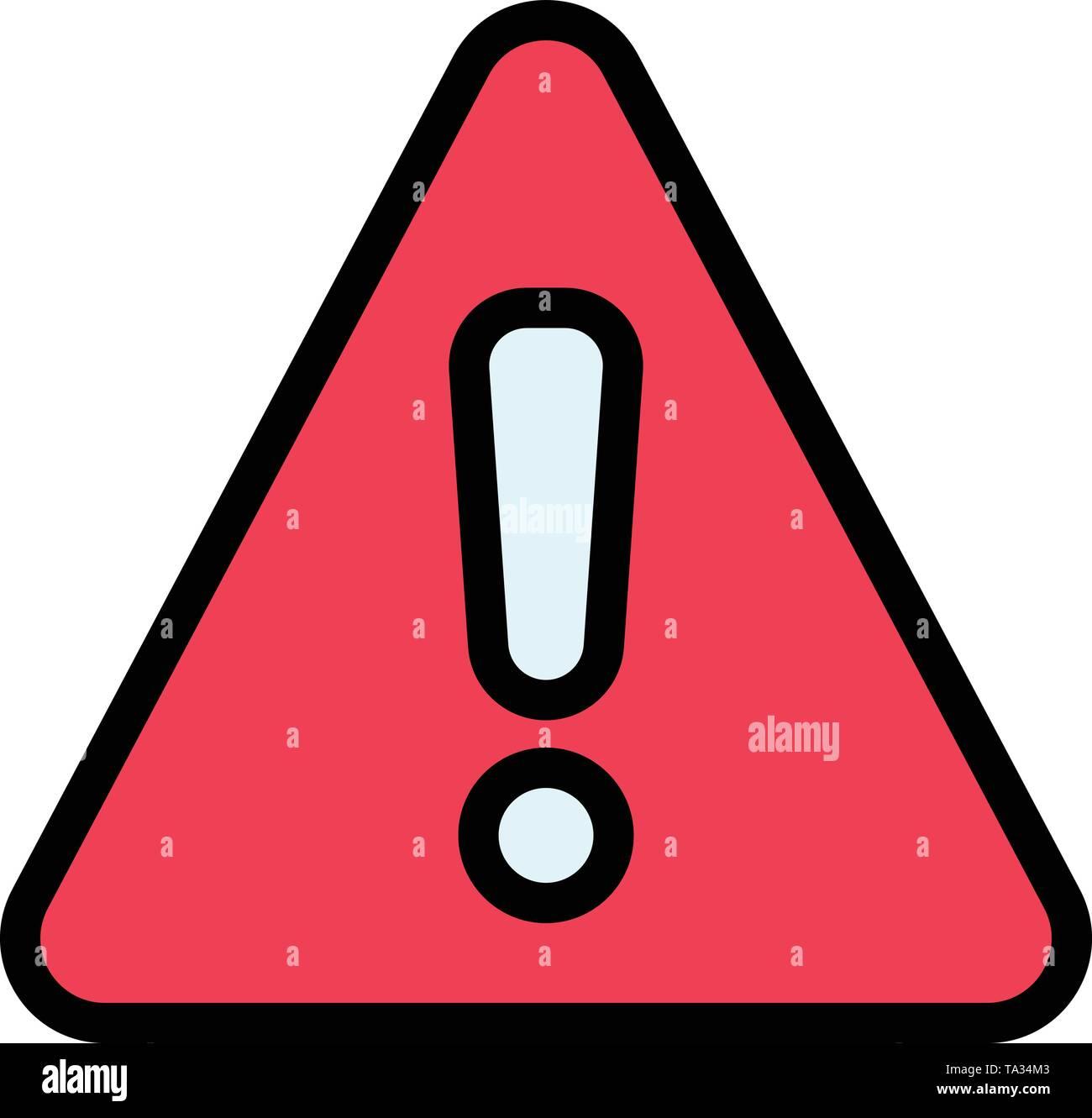 Alert, Danger, Warning, Sign Business Logo Template  Flat Color