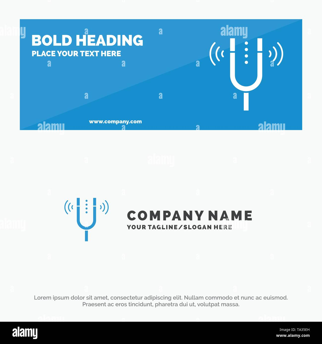 Concert, Fork, Cameron, Pitch, Reference SOlid Icon Website Banner and Business Logo Template - Stock Image