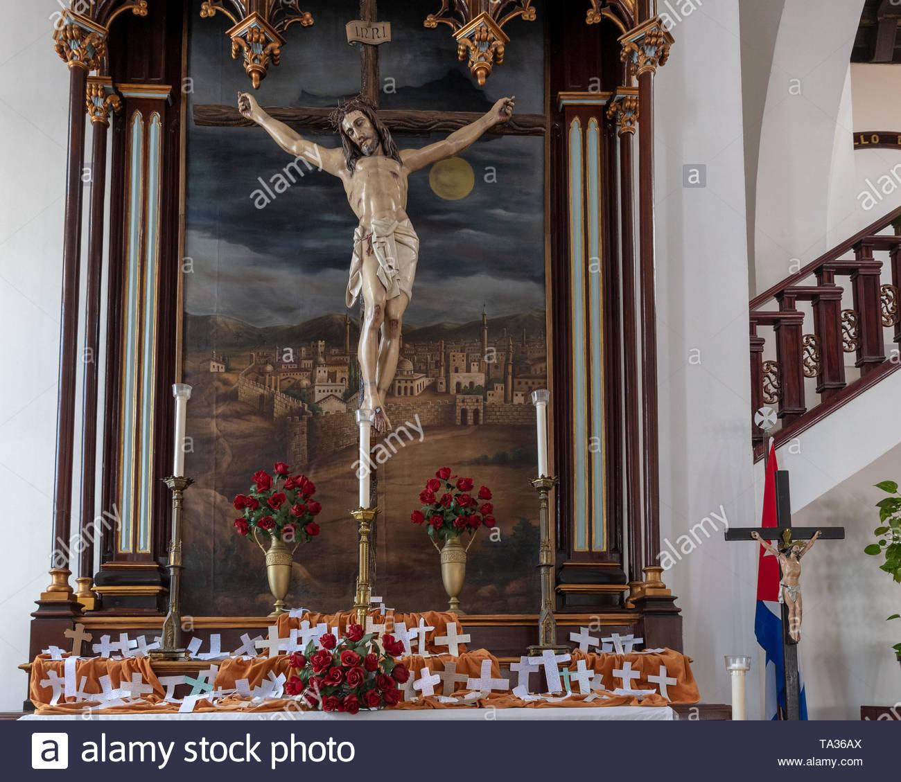 Jesus Christ in the cross  A symbol inside the Buenviaje Catholic