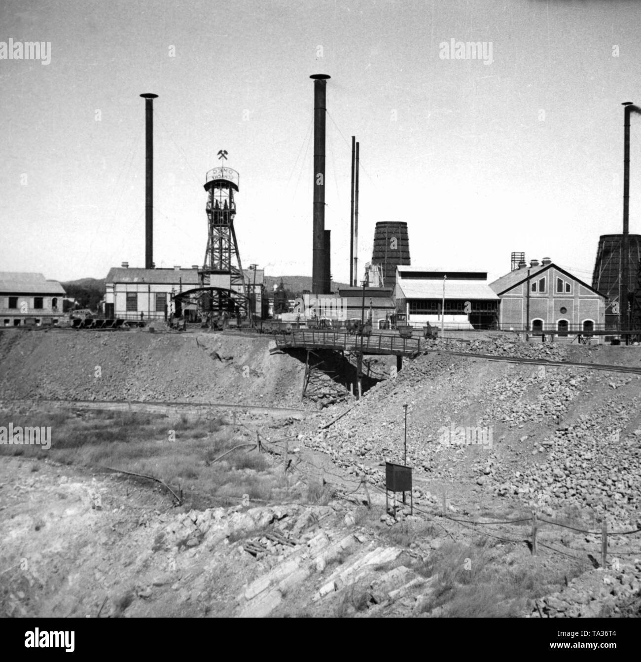 The Tsumeb mine in German South West Africa, which was operated from 1907 to 1996. It belonged to the Otavi Mining and Railway Company. (OMEG) - Stock Image