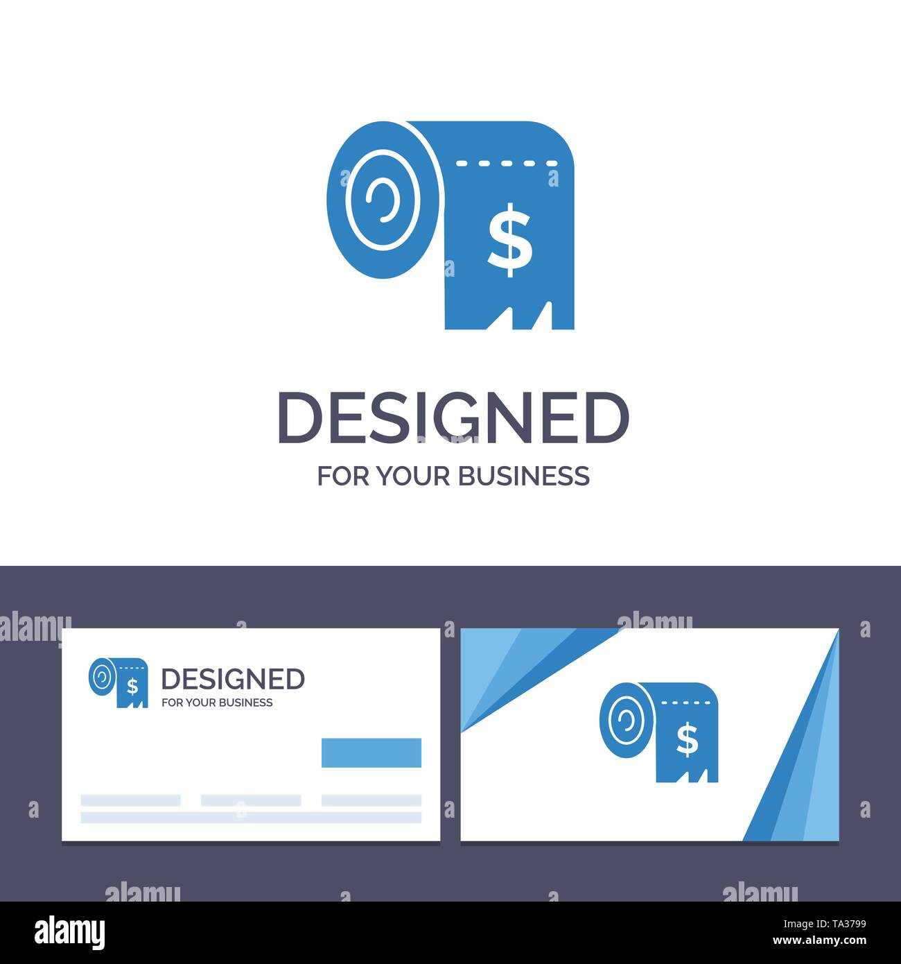 Creative Business Card and Logo template Budget, Consumption, Costs, Expenses, Finance Vector Illustration - Stock Image