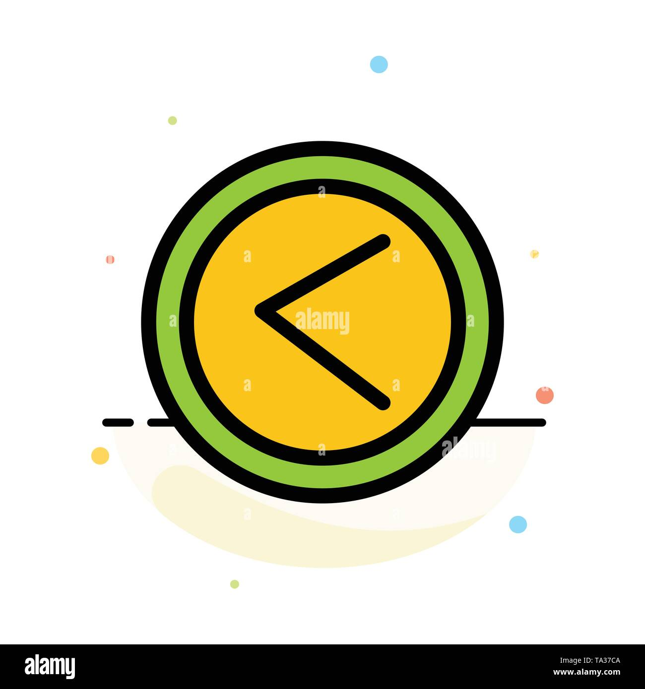 Arrow, Interface, Left, User Abstract Flat Color Icon Template - Stock Image
