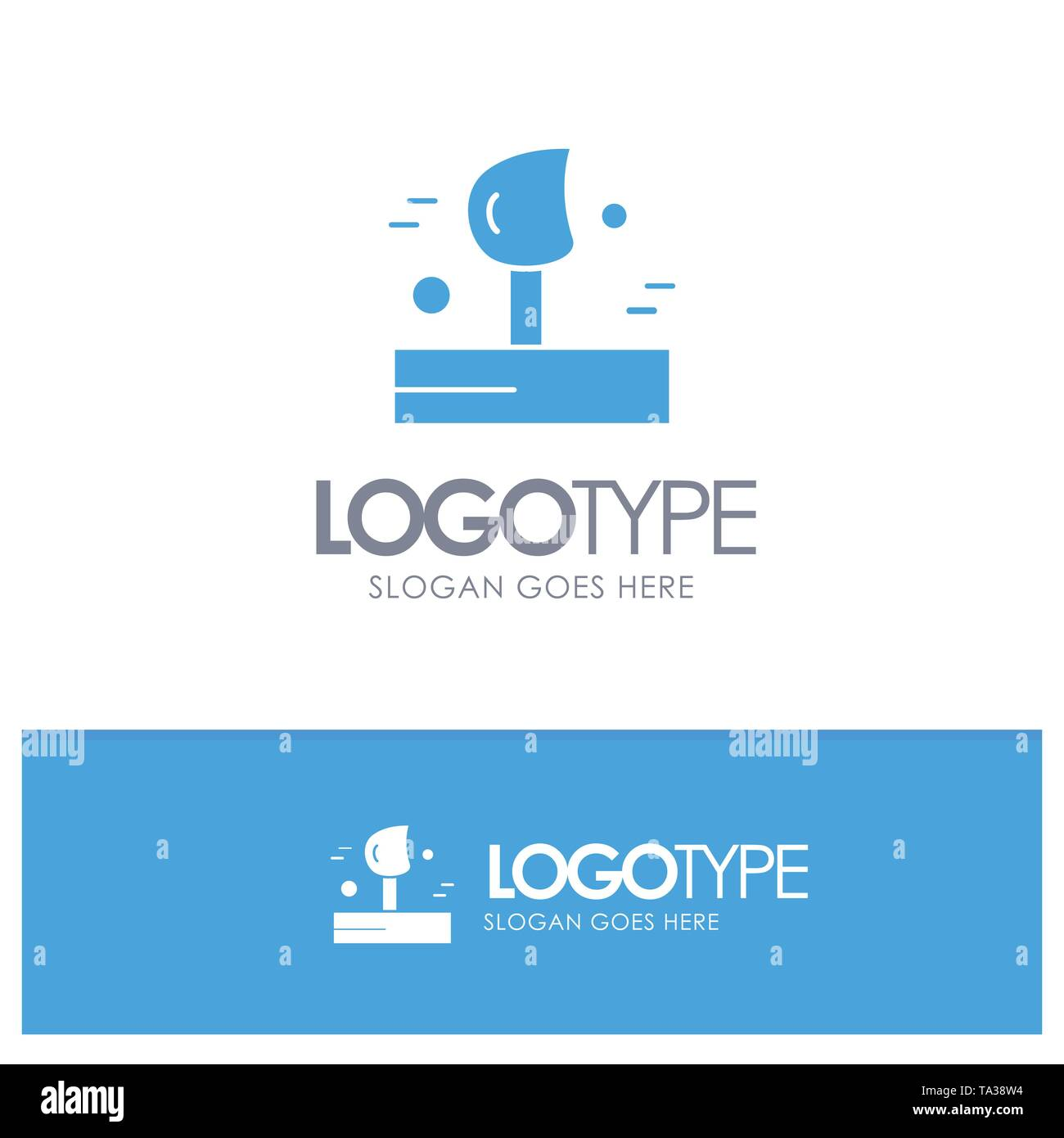 Blowing, Weather, Wind, Winter Blue Solid Logo with place for tagline - Stock Vector