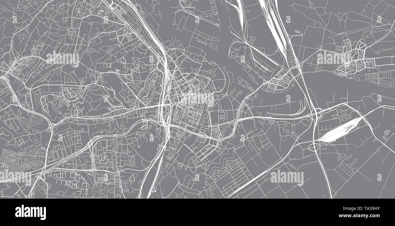 Urban vector city map of Gdansk, Poland - Stock Image