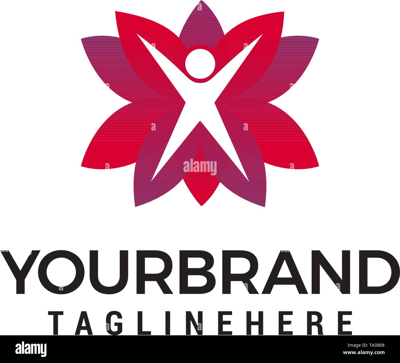 healthy life logo design concept template vector - Stock Image