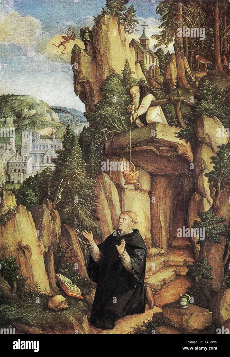 Representation of Saint Benedict of Nursia by Master of Messkirch, circa 1500, probably 1543 - Stock Image
